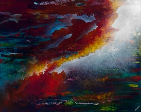 """A Song Only a God Could Bear to Hear, 48"""" x 60"""" $2700"""