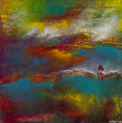 """A View From Within II, 18"""" x 18"""" #1082"""