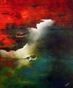 "An Unfolding Trilogy, 36"" x 30"" #1277acrylic on canvas"