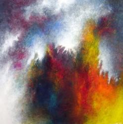 """An Unsheaving of the Heart, 20"""" x 20"""" #1019acrylic on canvas"""