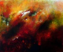 "Answered Cry, 20"" x 24"" #1086acrylic on canvas"