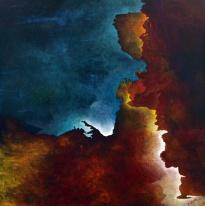 """As My Heart Waits, 40"""" x 40"""" #1226acrylic on canvas"""