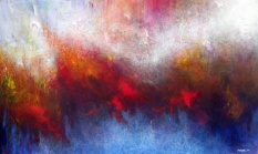 """As You Chase Them Away, 36"""" x 60"""" #1035acrylic on canvas"""