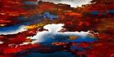 """Bear the Scared Edge, 24"""" x 48"""" #1257acrylic on canvas"""