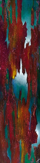 """But It Could Not Be Quenched, 60"""" x 15"""" $1400"""