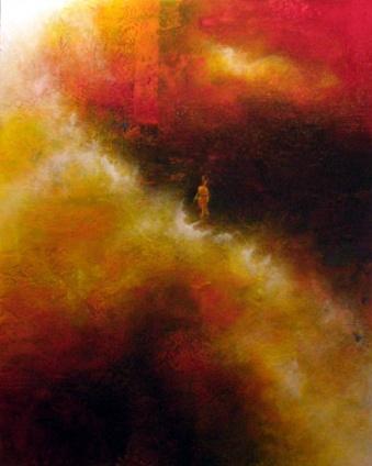 "Choosing to Return, 24"" x 30"" #1097acrylic on canvas"