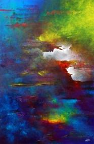 "Chrysalis, 48"" x 72"" #1099acrylic on canvas"