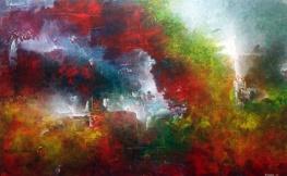 "Cities of the Sun, 30"" x 48"" #1058acrylic on canvas"