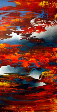"Closing the Door Of Separation, 48"" x 24"" #1256"