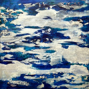 """Companion To The Clouds, 30"""" x 30""""-Available"""