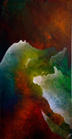 "Destined Destination, 23"" x 44"" #1248acrylic on canvas"