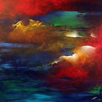 "Soaring 40"" x 40"" #1235 acrylic on canvas"