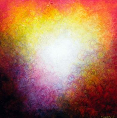 """Moth's Dance 18"""" x 18"""" #1020 acrylic on canvas"""