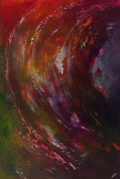 """Haunted By Echoes Of Your Scent and Whispered Fragments of Your Voice, 60"""" x 40"""" $2200"""