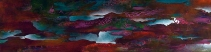 """I Am Sweetly Rolling Against Your Walls and Your Shores, 15"""" x 60"""" $1000"""