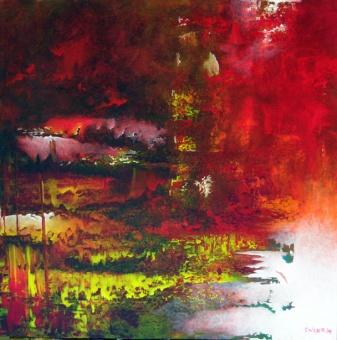 """In a Single Breath"" 24"" x 24"" #1037 acrylic on canvas"