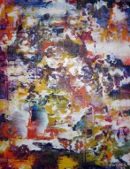 """Letterae XV"" 14"" x 18"" #1036 acrylic on canvas"