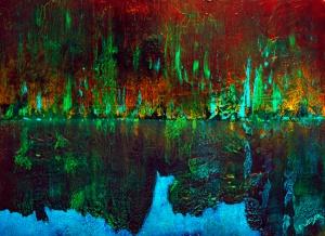 "Misreflected  18"" x 24"" #1244 acrylic on canvas"