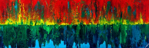 """Misreflecting"" 12"" x 36"" #1252 acrylic on canvas"