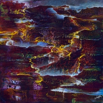 """Molten Fissures of the Heart, 24"""" x 24"""" $700"""