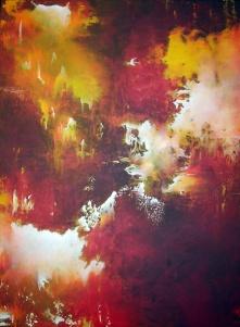 """""""One With the Sun"""" 30"""" x 40"""" #1033 acrylic on canvas"""