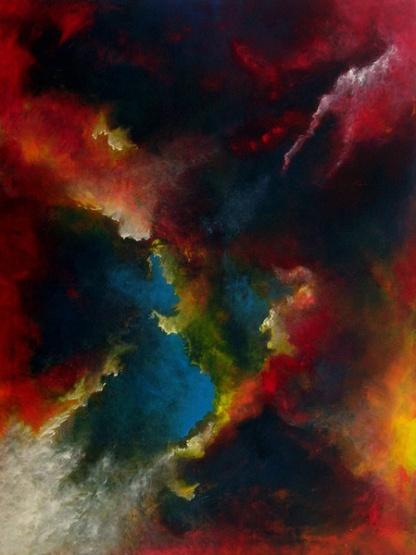 """Opening"" 30"" x 40"" #1141 acrylic on canvas"