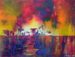 """Ophelia's Heart- A Reflected Love"" 11"" x 14"" #1070 acrylic on canvas"