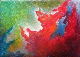 """Portal VII"" 5"" x 7"" #1152 acrylic on canvas"
