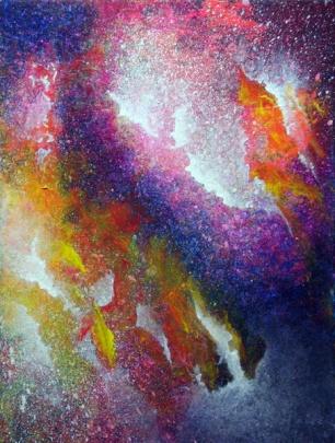 """""""Portal XIV"""" 9"""" x 12"""" #1159 acrylic on canvas"""