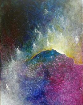 """Portal XV"" 9"" x 12"" #1160 acrylic on canvas"