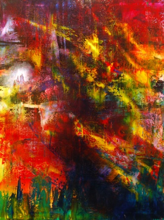 """Riding the Sugared Wind, 30"""" x 40"""" #1012"""