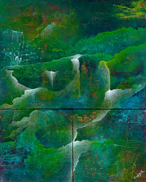 """Seeking Refuge In The Forest of My Heart 24"""" x 30"""" #1246"""