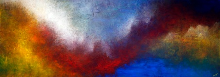 """""""The Shelter of Your Heart"""" 28"""" x 84"""" #1288 acrylic on canvas"""