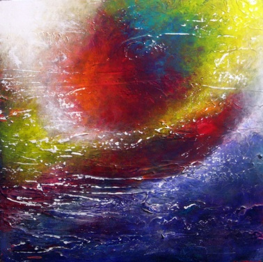 """Travel On Alone"" 24"" x 24"" #1208 acrylic on canvas"