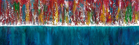 """Trying To See Beyond The Blue, 12"""" x 36"""" #1258"""