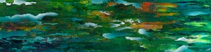 "Verdant Dreams, 15"" x 60""-Available"