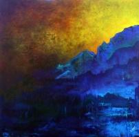 "Weighted With Heart's Curiosity, 40"" x 40"" #1215acrylic on canvas"