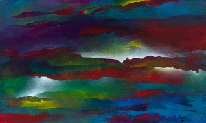"Whispered Thunderstorms, 36"" x 60""-Private Collection"