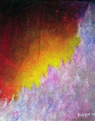 "Wildflowers at Dawn, 8"" x 10"" #1217acrylic on canvas"