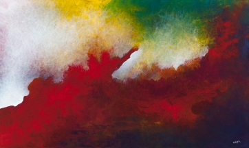 "You Whispered My Name In The Dark And I Was Found, 36"" x 60"" $1850"