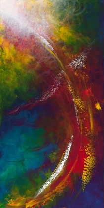 "Ripples Through You Like A Promise, 48"" x 24"" $1200"