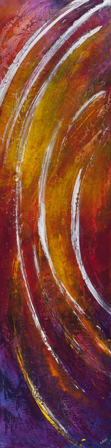 """There Is An Upward Soaring, 60"""" x 15"""" $1400"""