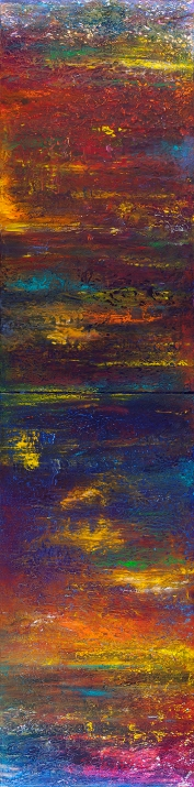 "To A Ship a Coastline, To the Shore the Sea, 18"" x 72"" (diptych) $1200"