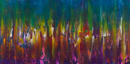 "Your Presence Resounds In My Depths, 24"" x 48"" $1200"