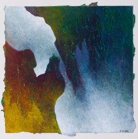 """A Quiet Reaching, acrylic on paper, 12"""" x 12"""" $600"""