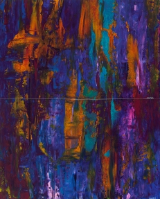 "Aqua Lung Forest, 27"" x 21.5"" diptych #1346p"