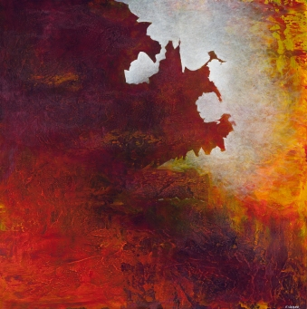 "I Have Kindled You With the Flame Imperishable, 22"" x 22"" #1347p"