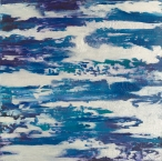 """Companion to the Clouds II, acrylic on canvas, 30"""" x 30"""", $900"""