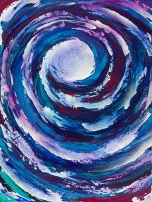 """Moon Homage, acrylic on canvas, 48"""" x 36"""" $1700"""