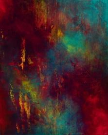 """Anapanasati (Mindfulness of Breathing), acrylic on canvas, 60"""" x 48"""", $2700"""
